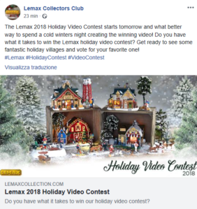 Lemax Video Contest 2018