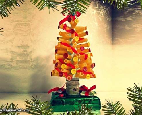 lavoretti natalizi albero di pasta