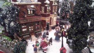 villaggio di natale in miniatura