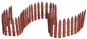 lemax 18 Wired Wooden Fence