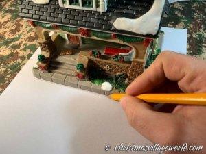 tracciatura casetta natalizia