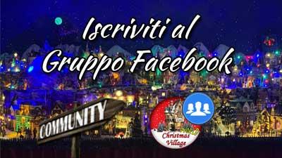 gruppo facebook Villaggi di Natale Lemax